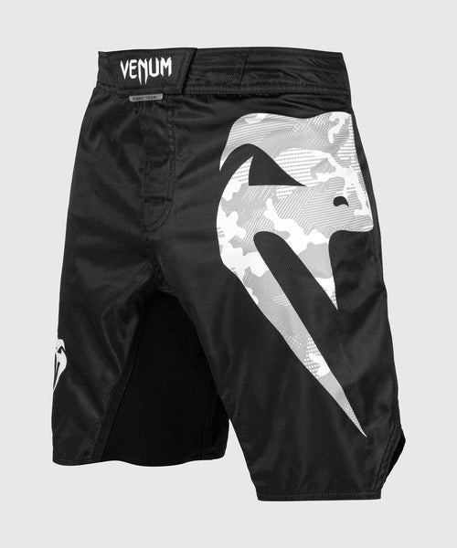 Venum Light 3.0 Fightshorts - Black/White Camo picture 1