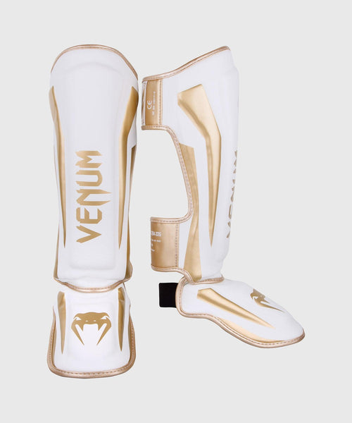 Venum Elite Standup Shin guards - White/Gold picture 1