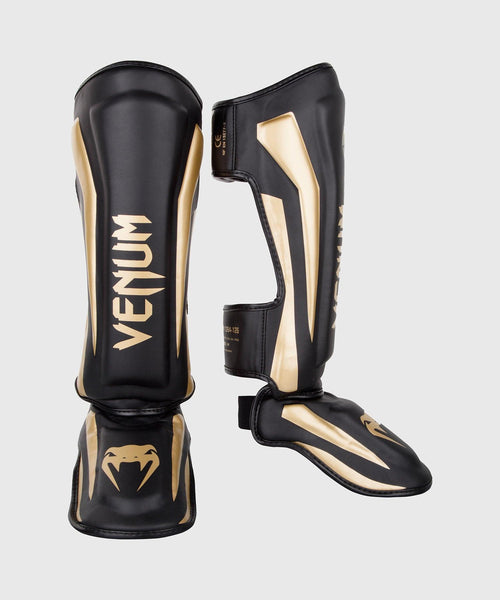 Venum Elite Standup Shin guards - Black/Gold picture 1