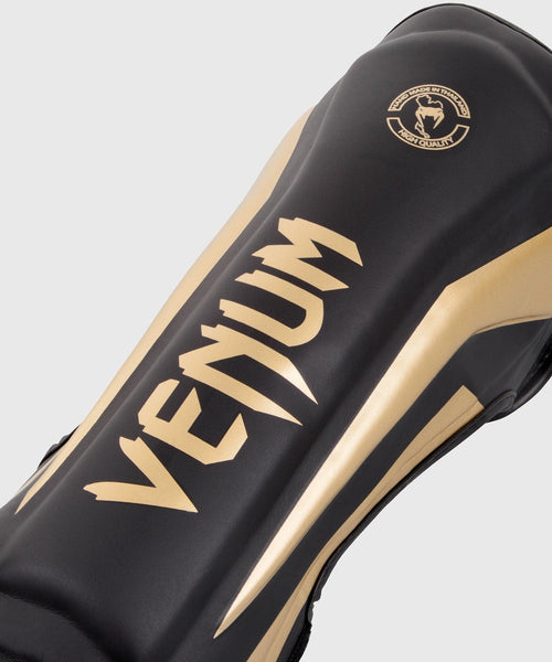 Venum Elite Standup Shin guards - Black/Gold picture 2