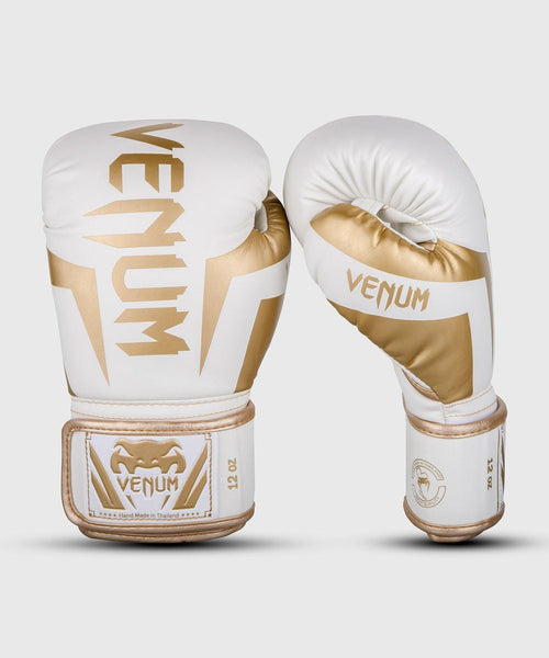 Venum Elite Boxing Gloves - White/Gold picture 1