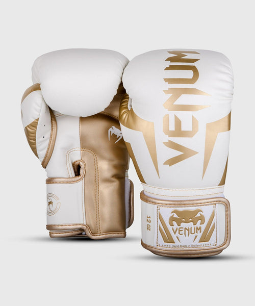Venum Elite Boxing Gloves - White/Gold picture 2