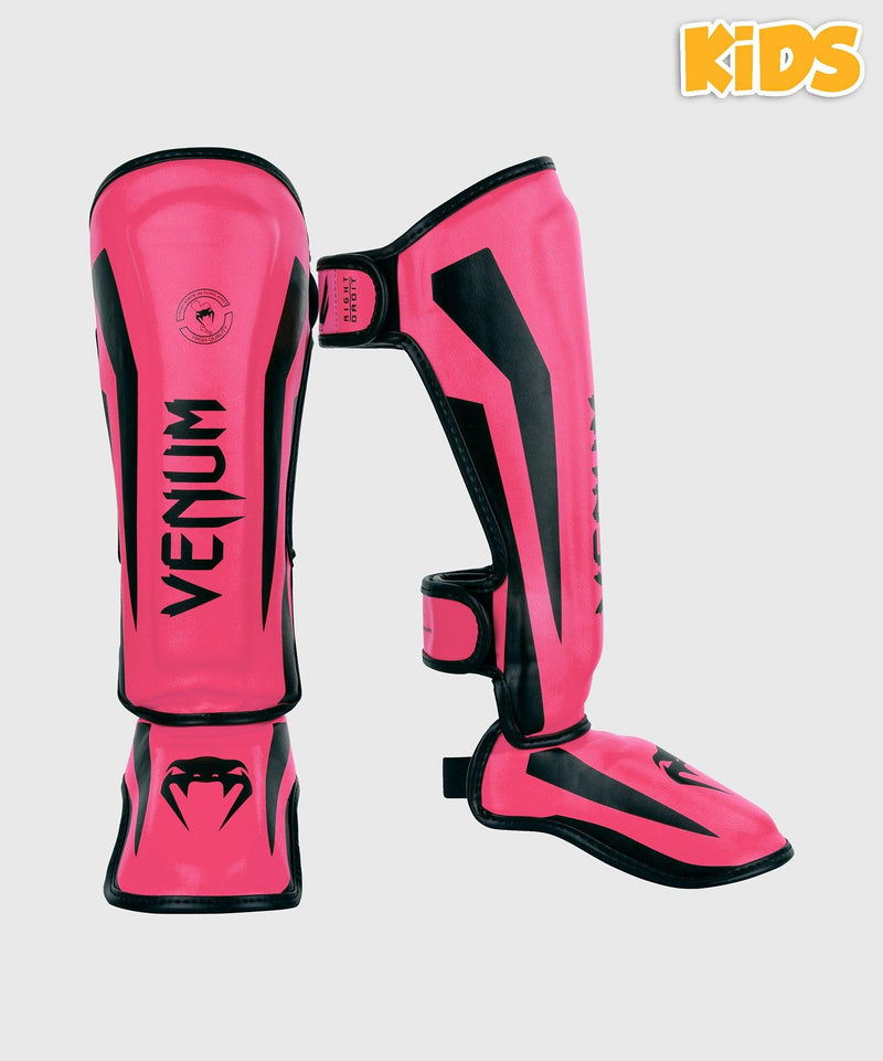 Venum Elite Shin Guards Kids - Exclusive - Neo Pink picture 1