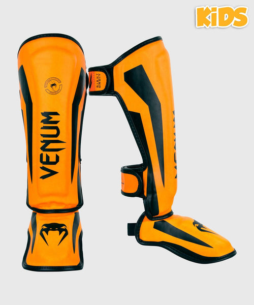 Venum Elite Shin Guards Kids - Exclusive - Neo Orange picture 1