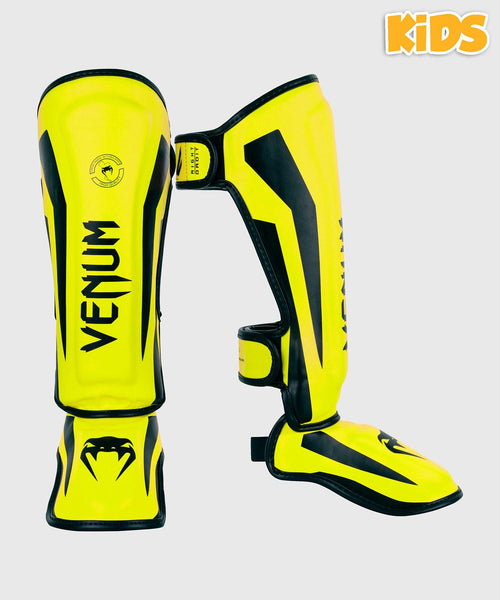 Venum Elite Shin Guards Kids - Exclusive - Neo Yellow picture 1