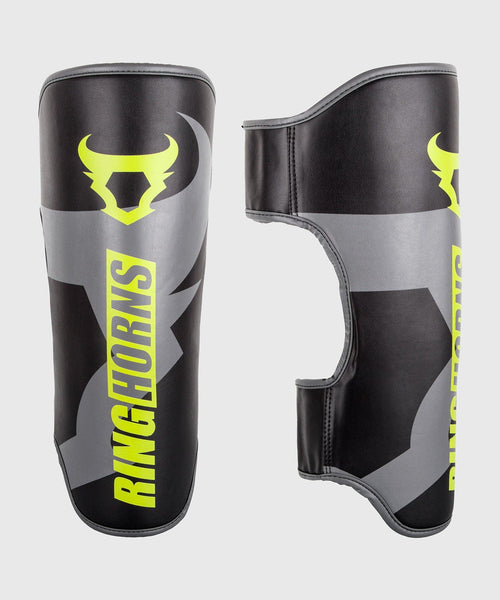 Ringhorns Charger Shin Guards - Black/Neo Yellow picture 1