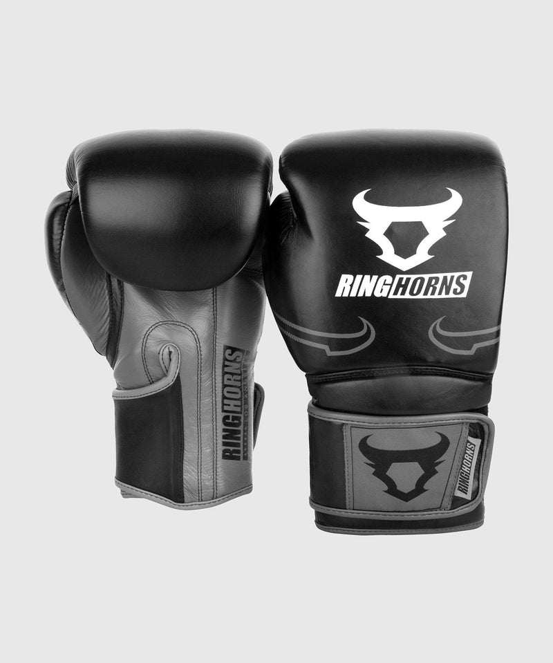 Ringhorns Destroyer Boxing Gloves - Leather - Black/Grey picture 2