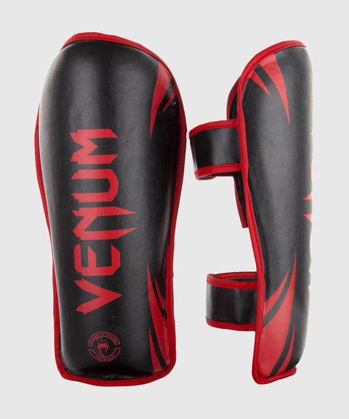 Venum Challenger Shin guards - Black/Red picture 1