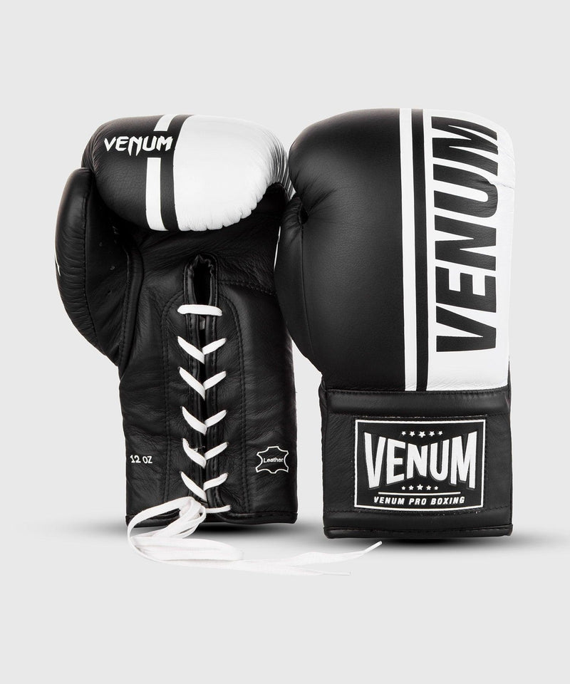 Venum Shield Pro Boxing Gloves - With Laces - Black/White picture 3