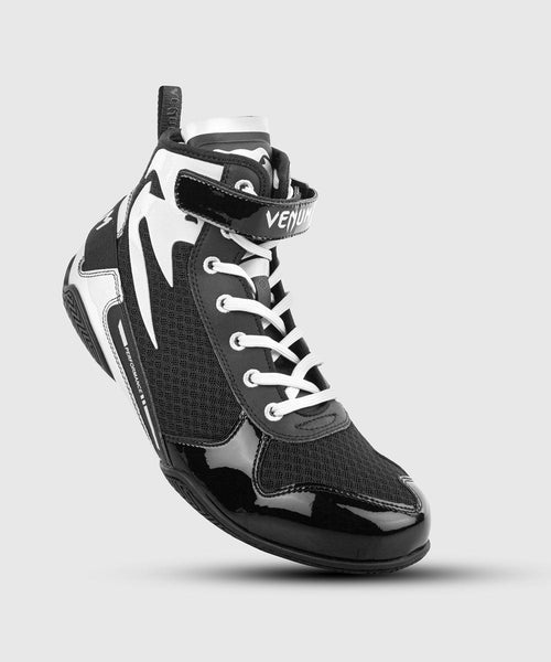 Venum Giant Low Boxing Shoes - Black/White picture 1