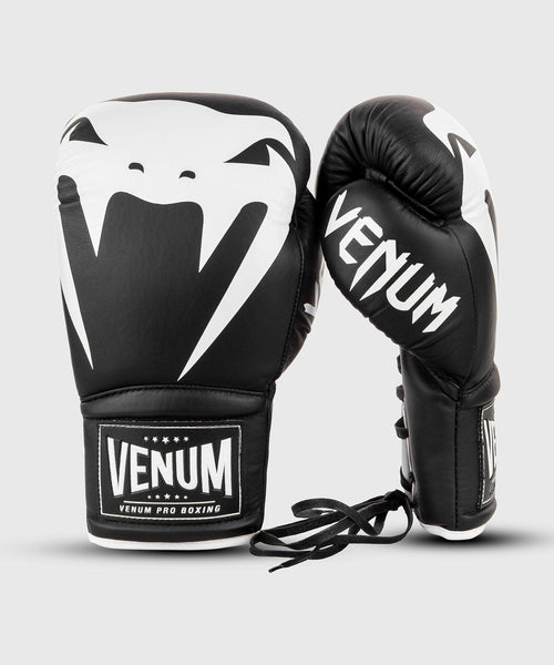 Venum Giant 2.0 Pro Boxing Gloves - With Laces - Black/White picture 2