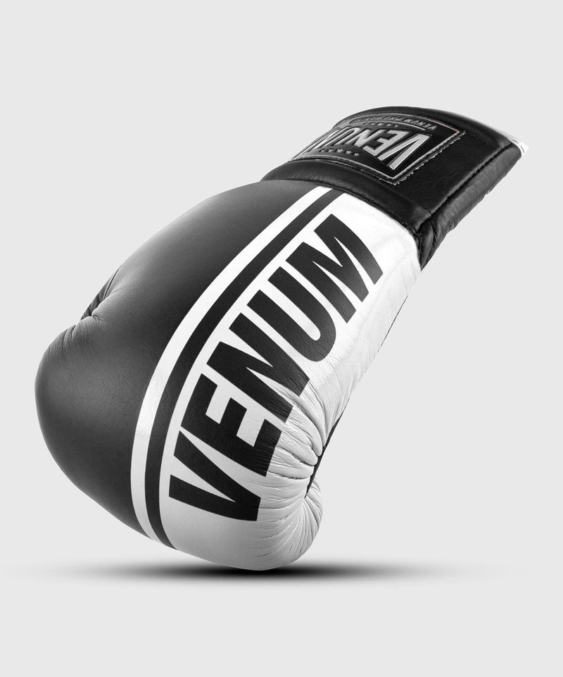 Venum Shield Pro Boxing Gloves - With Laces - Black/White picture 1