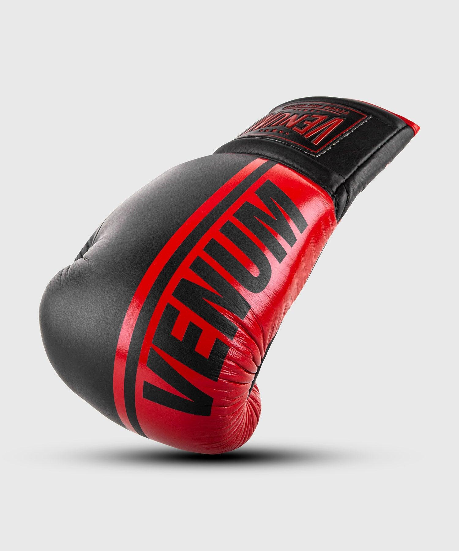 Venum Shield Pro Boxing Gloves - With Laces - Black/Red picture 1