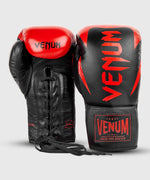Venum Hammer Pro Boxing Gloves - With Laces - Black/Red picture 7