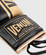 Venum Shield Pro Boxing Gloves - With Laces - Black/Gold picture 5