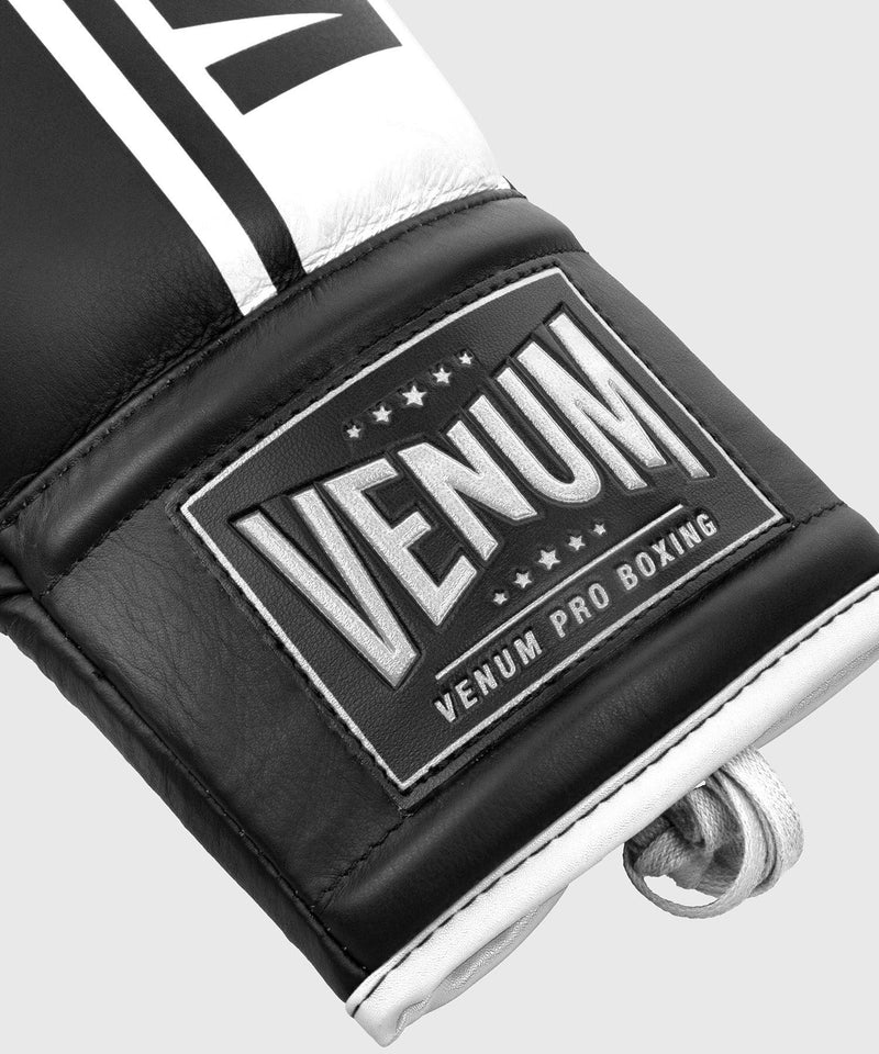 Venum Shield Pro Boxing Gloves - With Laces - Black/White picture 8