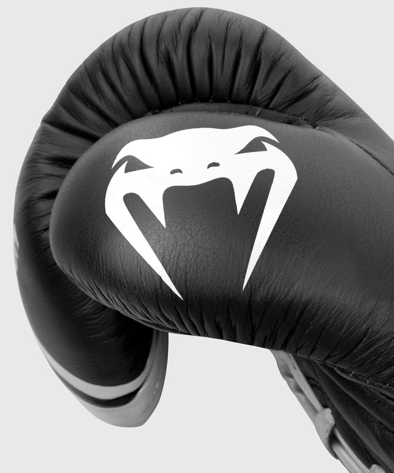 Venum Shield Pro Boxing Gloves - With Laces - Black/White picture 4
