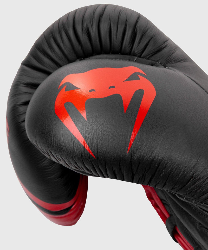 Venum Shield Pro Boxing Gloves - With Laces - Black/Red picture 4