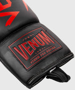 Venum Hammer Pro Boxing Gloves - With Laces - Black/Red picture 5