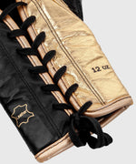 Venum Shield Pro Boxing Gloves - With Laces - Black/Gold picture 4