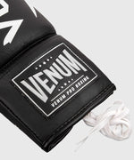 Venum Hammer Pro Boxing Gloves - With Laces - Black/White picture 5