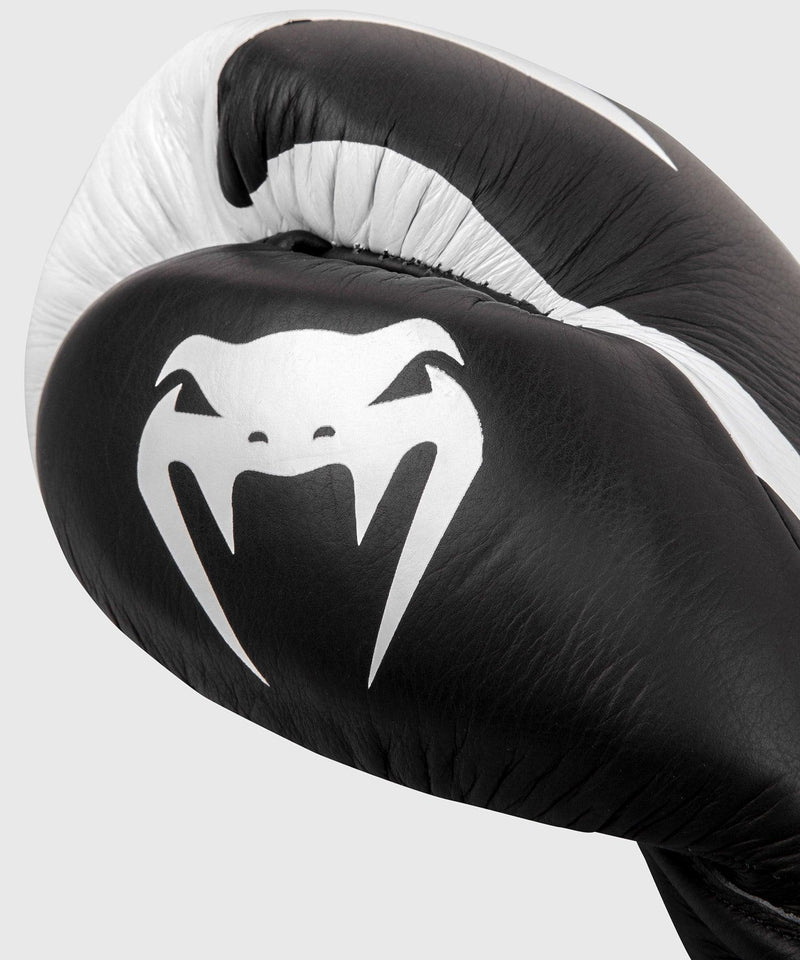 Venum Hammer Pro Boxing Gloves - With Laces - Black/White picture 4