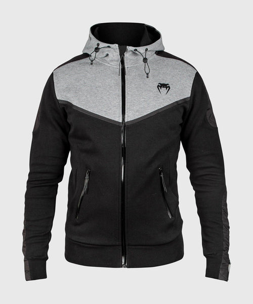 Venum Laser Evo Hoodie - Black/Heather Grey picture 1