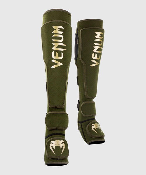 Venum Kontact Evo Shin Guards - Khaki/Gold picture 1