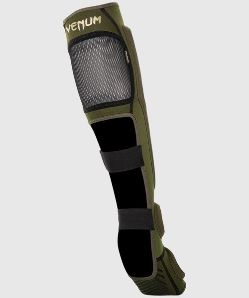 Venum Kontact Evo Shin Guards - Khaki/Gold picture 2