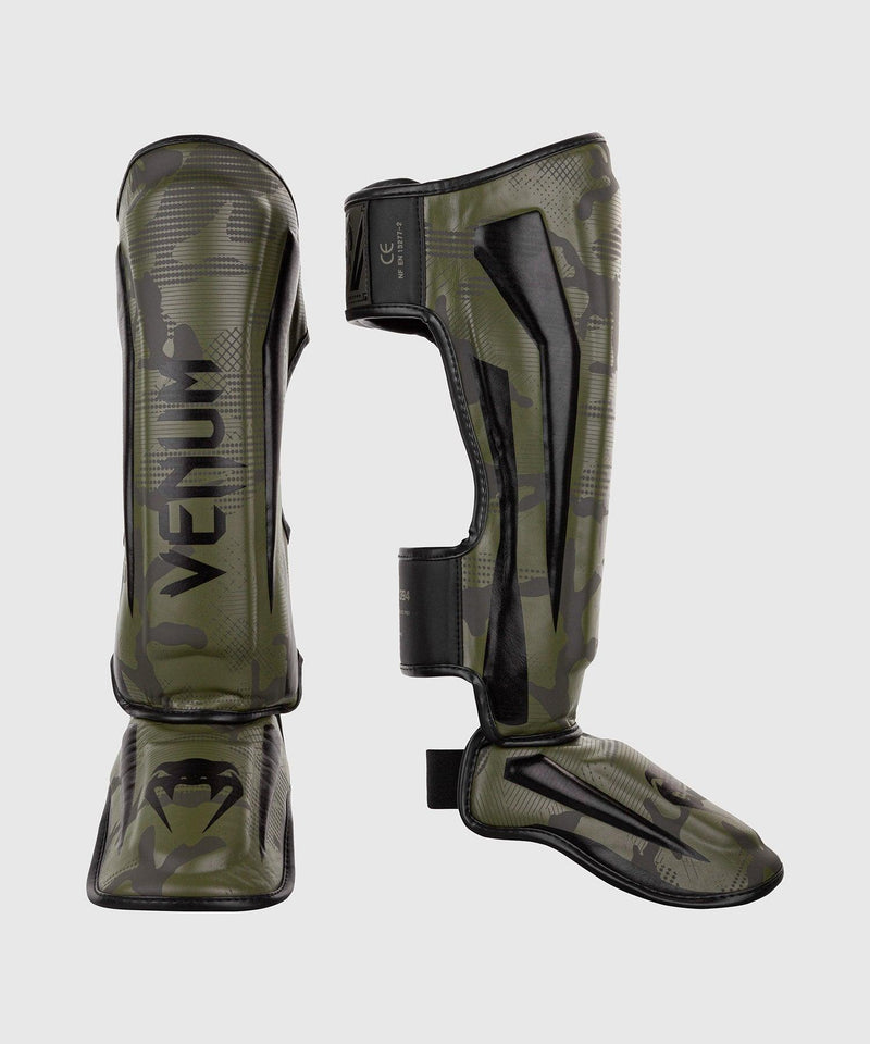 Venum Elite Shin Guards - Khaki camo picture 1