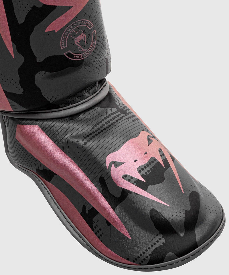Venum Elite Shin Guards - Black/Pink Gold picture 3