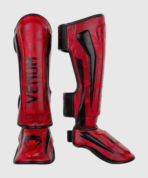 Venum Elite Shin Guards - Red Camo picture 1