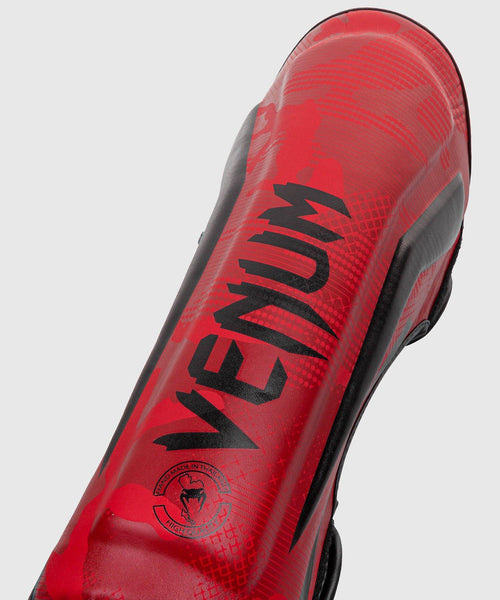Venum Elite Shin Guards - Red Camo picture 2