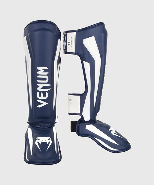 Venum Elite Standup Shin guards - White/Navy Blue picture 1