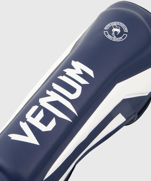 Venum Elite Standup Shin guards - White/Navy Blue picture 2