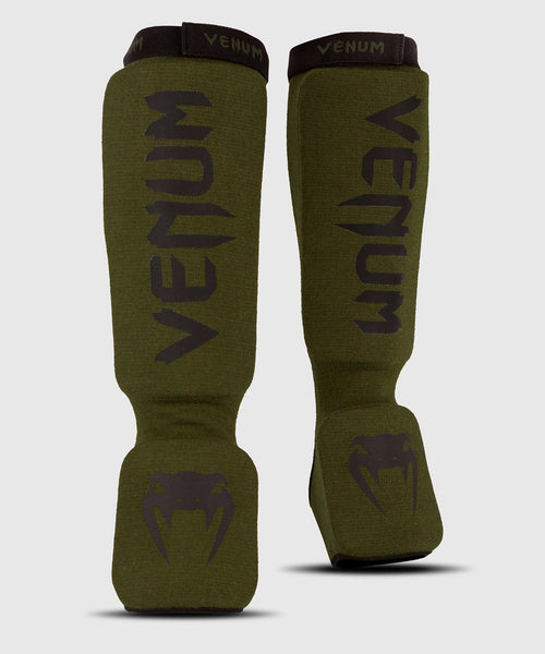 Venum Kontact Shin Guards - Khaki/Black picture 1