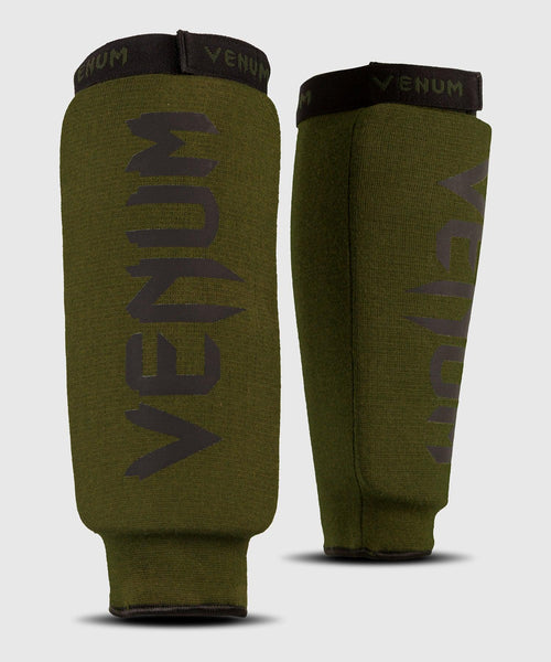 Venum Kontact Shin Guards - without foot - Khaki/Black picture 1