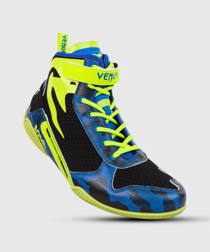 Venum Giant Low Loma Edition Boxing Shoes - Blue/Yellow picture 1