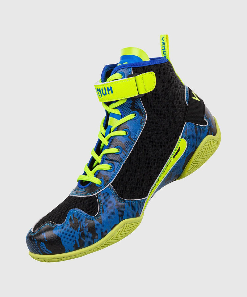 Venum Giant Low Loma Edition Boxing Shoes - Blue/Yellow picture 2