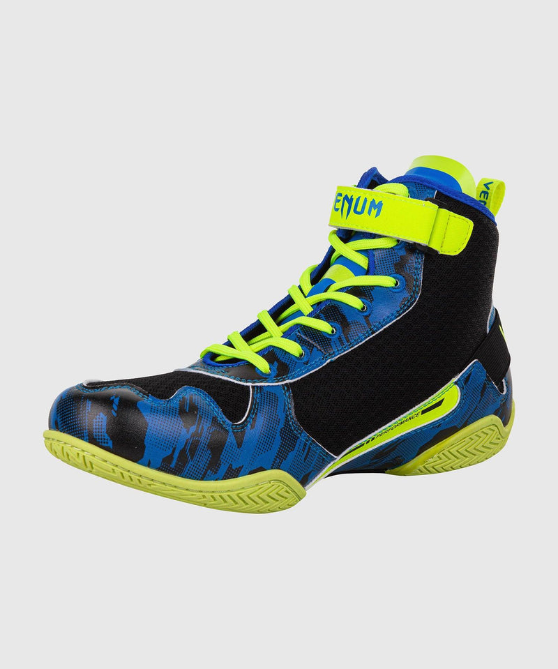 Venum Giant Low Loma Edition Boxing Shoes - Blue/Yellow picture 4