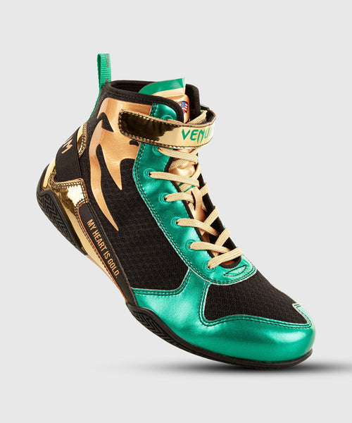 Venum Giant Low Boxing Shoes - WBC Limited Edition - Green/Gold picture 1