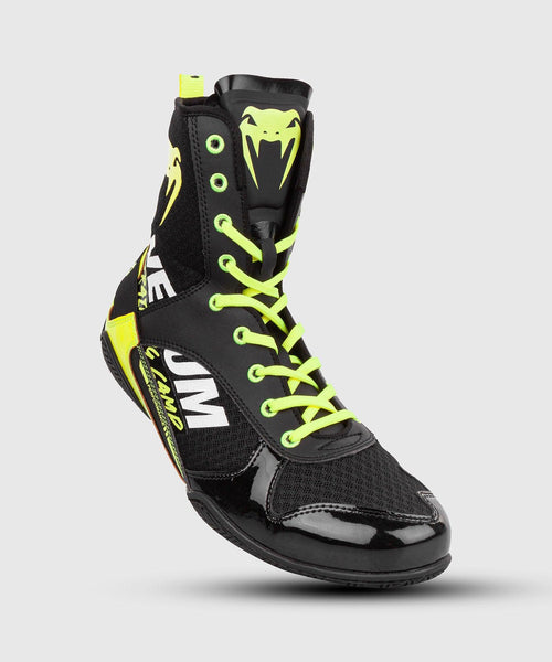 Venum Elite VTC 2 Edition Boxing Shoes - Black/Neo Yellow picture 1