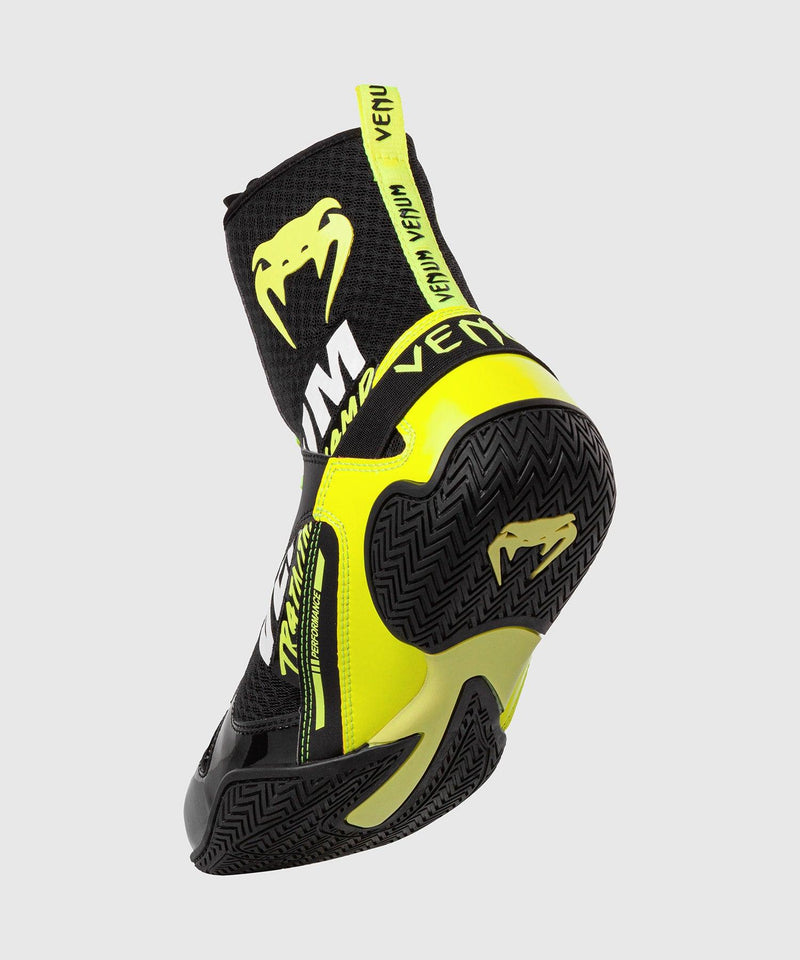 Venum Elite VTC 2 Edition Boxing Shoes - Black/Neo Yellow picture 2