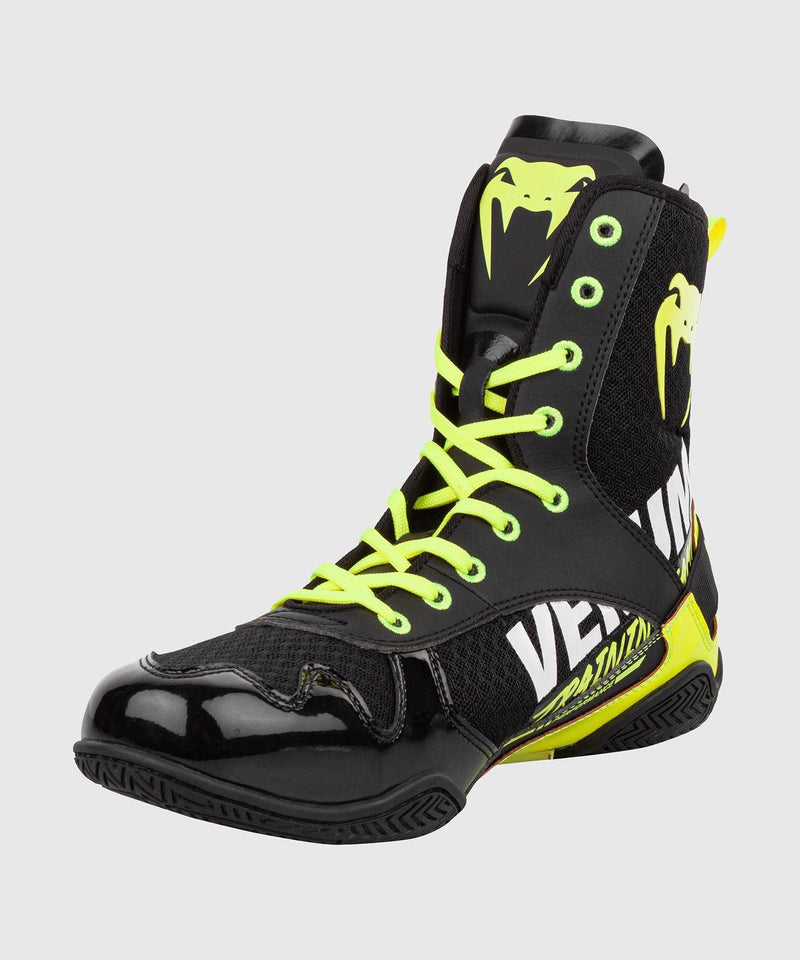 Venum Elite VTC 2 Edition Boxing Shoes - Black/Neo Yellow picture 5