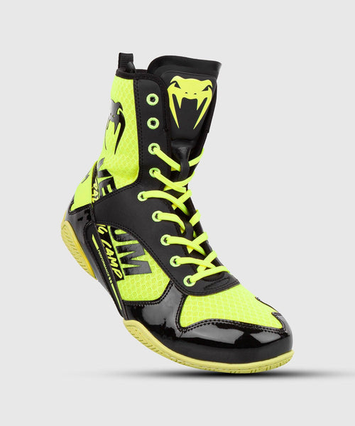 Venum Elite VTC 2 Edition Boxing Shoes - Neo Yellow/Black picture 1