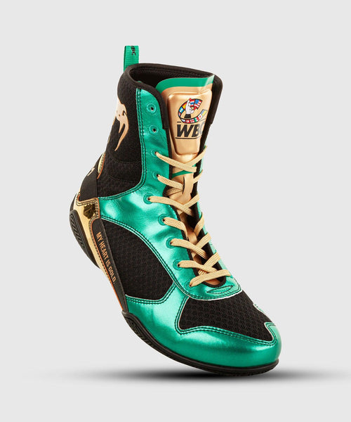 Venum Elite Boxing Shoes - WBC Limited Edition - Green/Gold picture 1