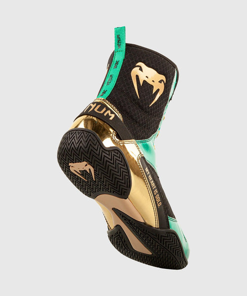 Venum Elite Boxing Shoes - WBC Limited Edition - Green/Gold picture 2