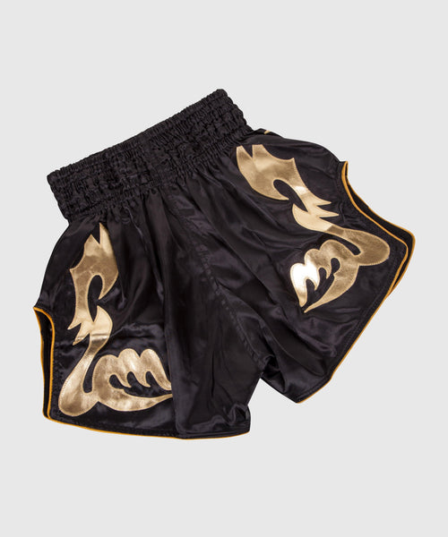 Venum Bangkok Inferno Muay Thai Shorts - Black/Gold foto 2