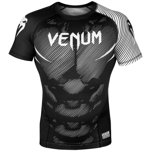 Venum NoGi 2.0 Rashguard - Short Sleeves – Black/White picture 1