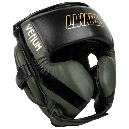 Venum Pro Boxing Headgear Linares Edition – Khaki/Black/Gold picture 2